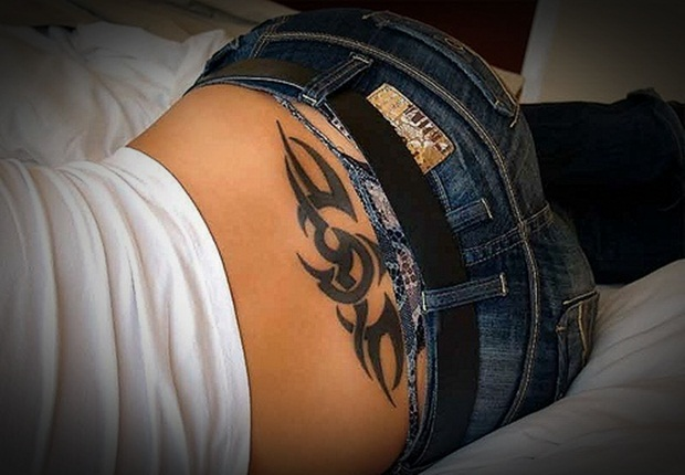 Sexy lower back tattoos for women