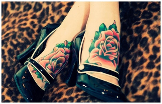 Sexy Roses on Feet