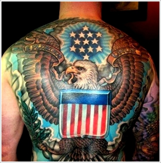 Full back eagle tattoo