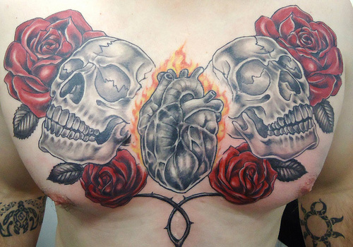 Skull And Rose Tattoo Amazing Tattoo Ideas