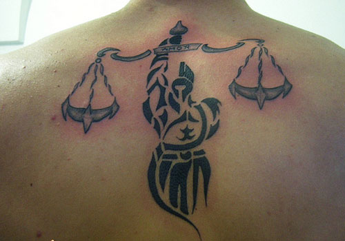 Tribal Libra tattoo