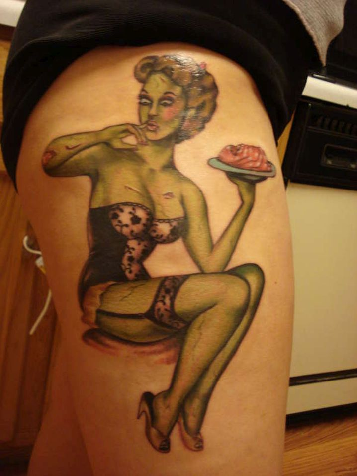 pin up girl tattoo inspired