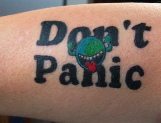 Amazing Hitchhikers Guide to the Galaxy geeky tattoo