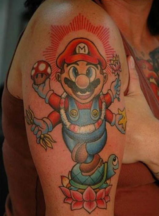Amazing Mario geeky tattoo