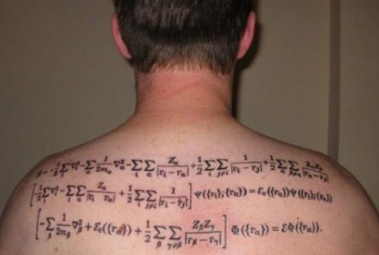 Amazing algorithm geeky tattoo