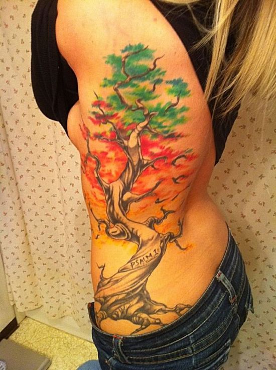 Tree Side Tattoo: 50 Tree Tattoo Designs For Men And Women [Part 2