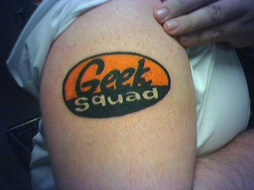 Cool Geek Squad geeky tattoo
