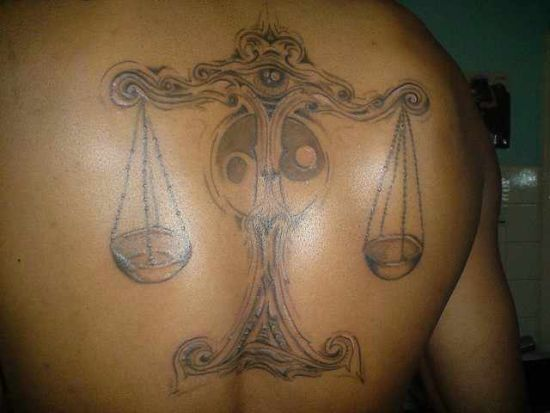 Cool Libra tattoo design