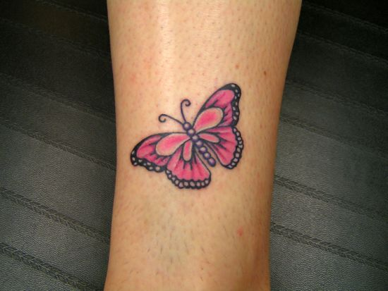 Small Butterfly Tattoo Above The Ankle Amazing Tattoo Ideas