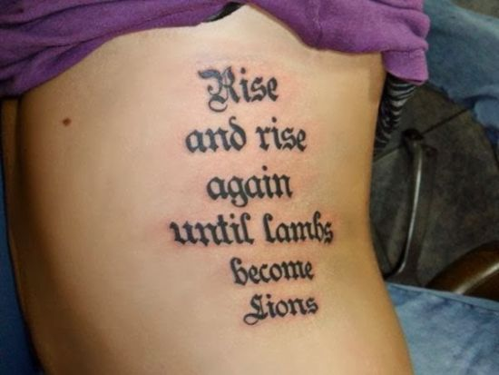 Top 50 Inspiring Tattoo Quotes Ideas Amazing Tattoo Ideas