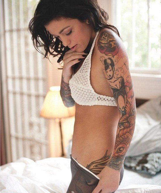 Sexy sleeve tattoos for girls