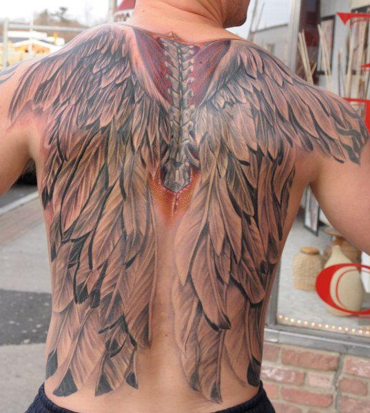 d1d3e846f Red and black angel wings tattoo design | Amazing Tattoo Ideas