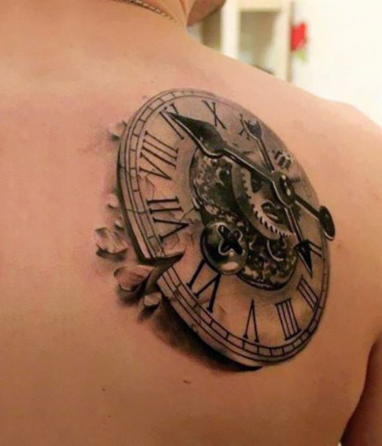 3D Compass Tattoo Design | Amazing Tattoo Ideas