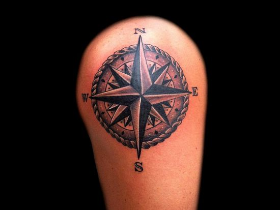 Nautical Arm Compass Tattoo Amazing Tattoo Ideas