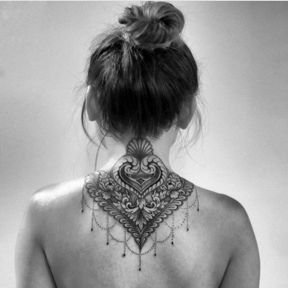 40 Beautiful Back Neck Tattoos For Women: 30 Lovely Nape Tattoos For Girls