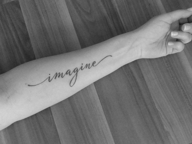 """Imagine"" Word Arm Tattoo"