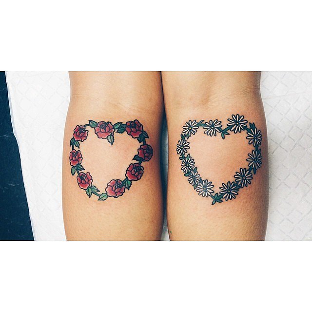 Floral Hearts Tattoo