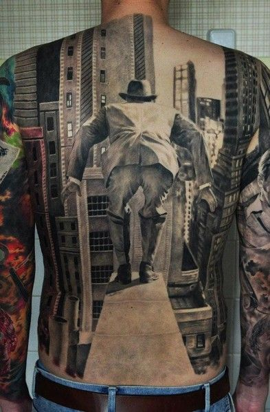 Amazing Illusion Back Tattoo