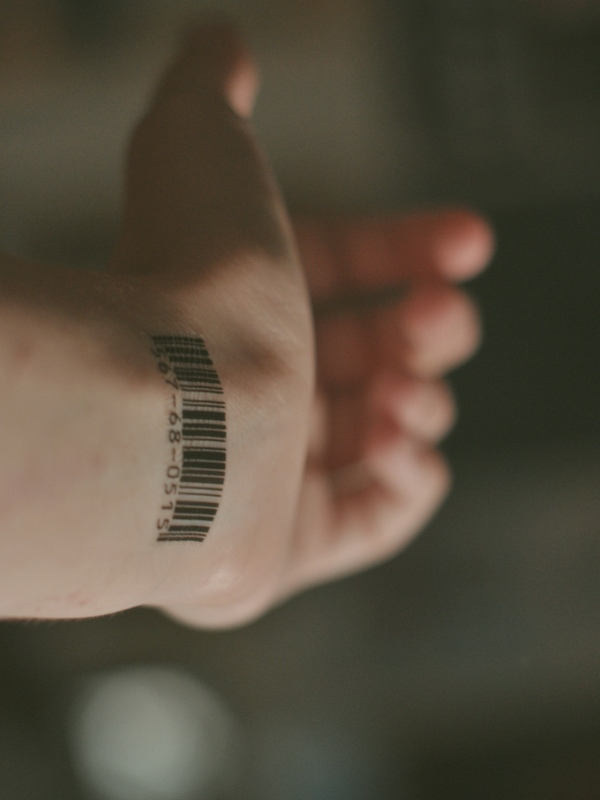Bar Code Wrist Tattoo