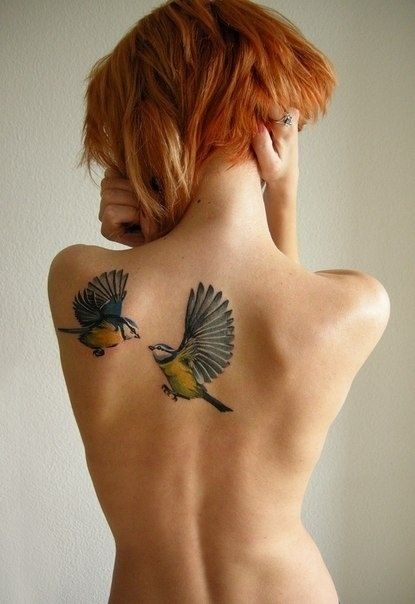 Birds Back Tattoo