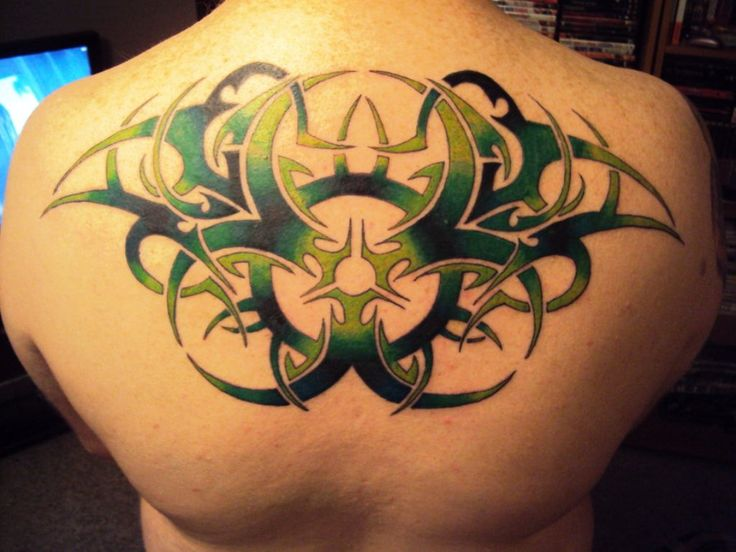Cool Pattern Back Tattoo