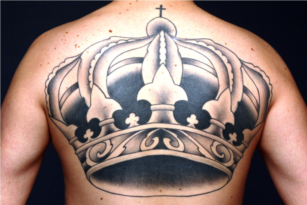 Crown Back Tattoo