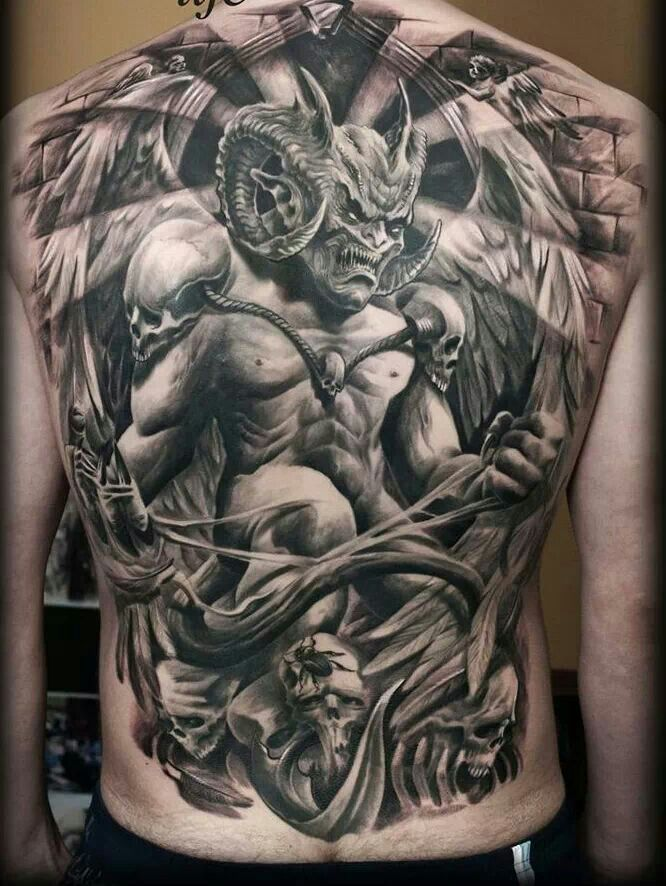 Dark Side Back Tattoo