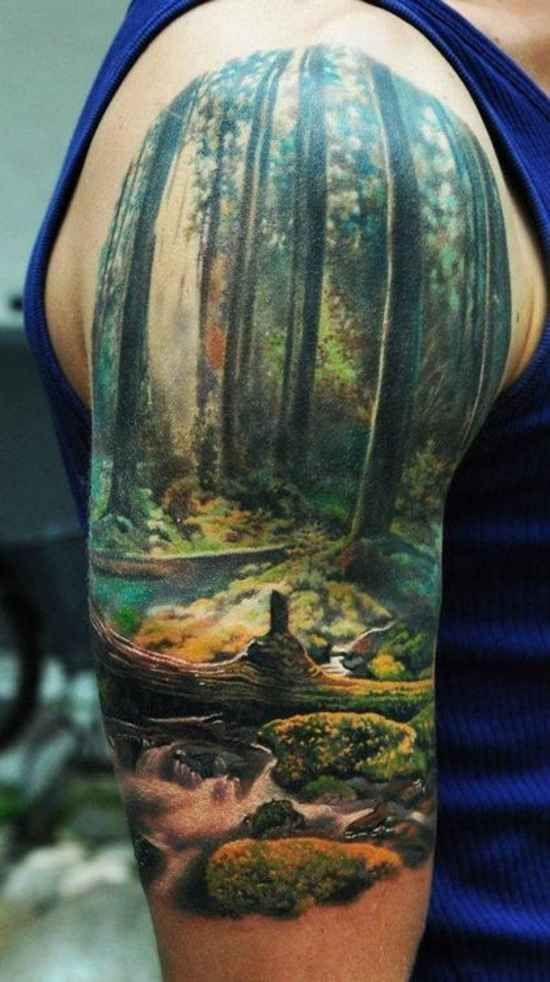 Gorgeous Nature Arm Tattoo