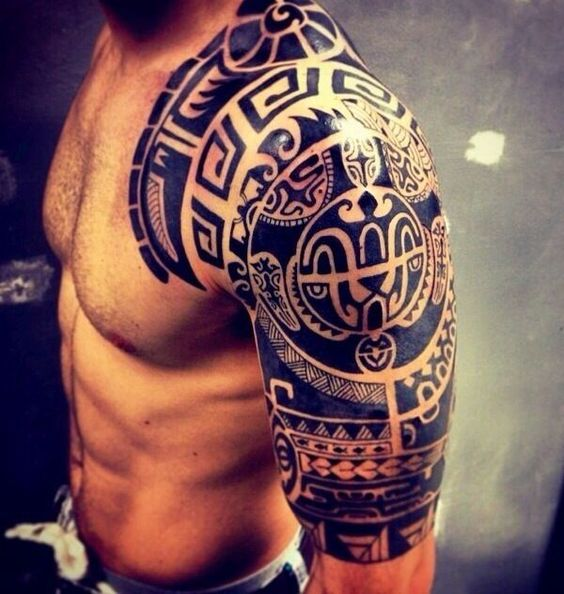 Intricate Tribal Arm Tattoo