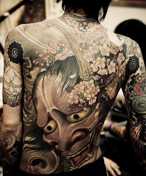 Japanese Style Full Back Tattoo