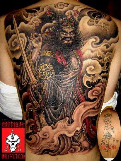 Japanese Tribal Back Tattoo