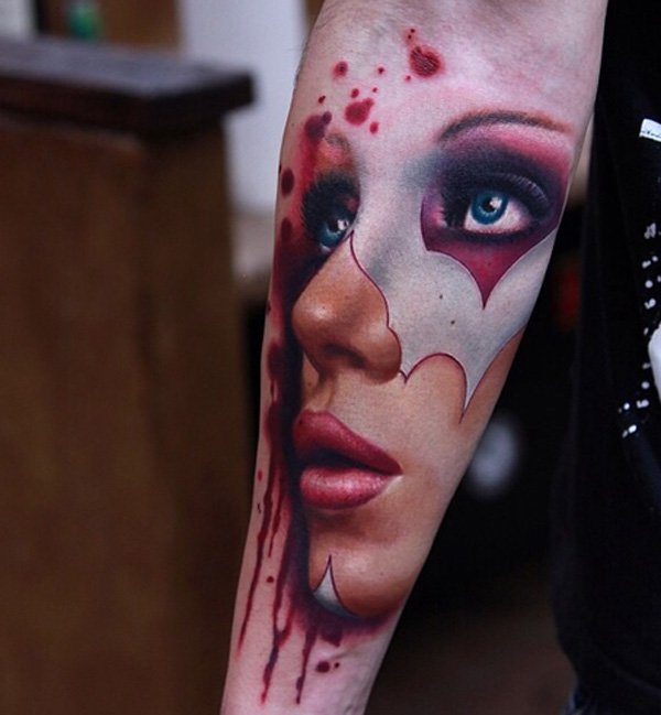 Lovely Portrait Forearm Tattoo