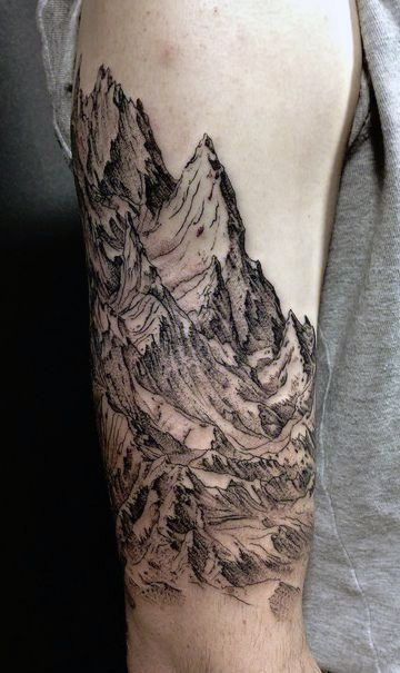 Mountain Range Arm Tattoo
