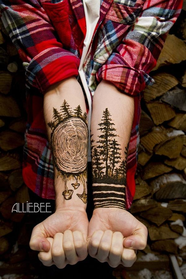 Nature Love Forearm Tattoo