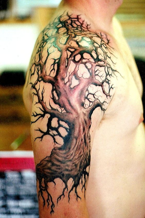 Old Tree Arm Tattoo