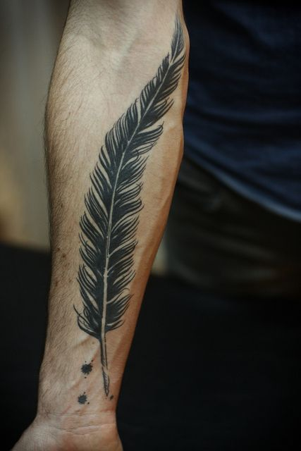 Poet's Weapon Forearm Tattoo