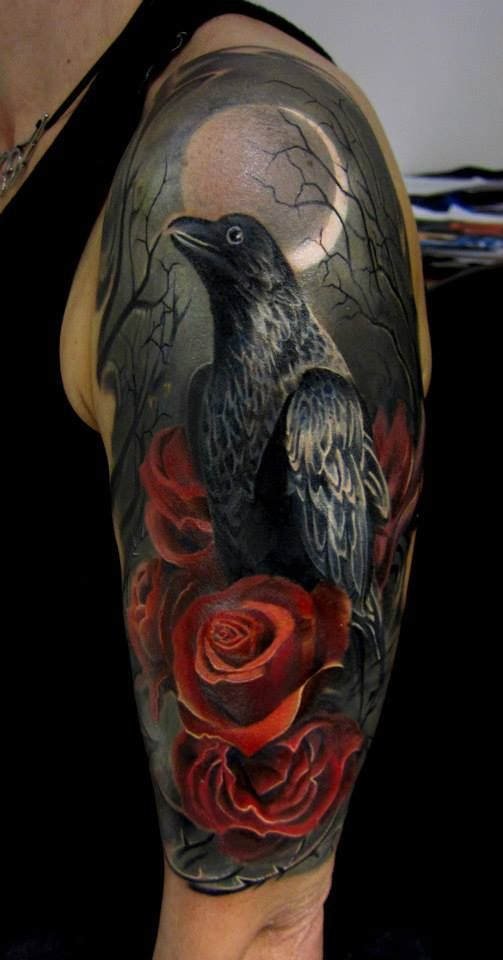 Raven Arm Tattoo