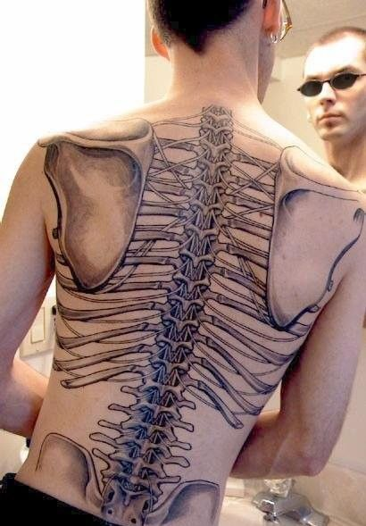 Skeletal Back Tattoo