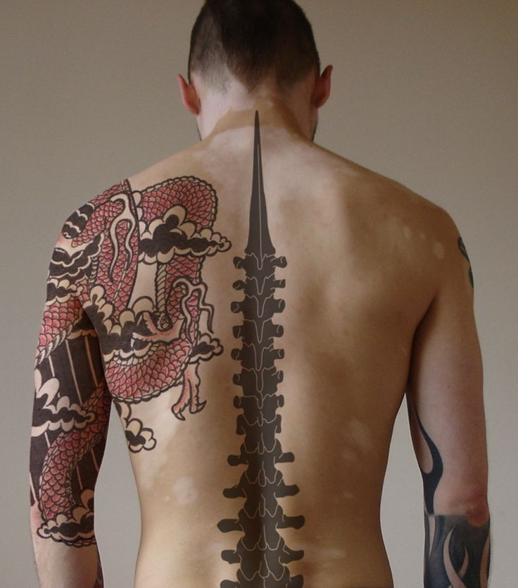Spinal Cord Back Tattoo
