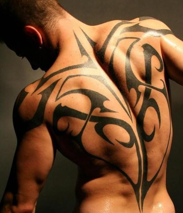 Tribal Full Back Tattoo