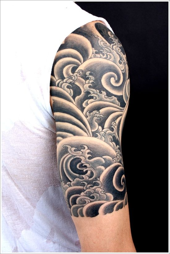 Waves Arm Tattoo