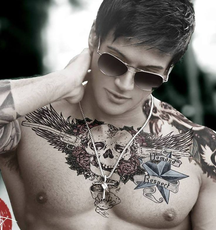 50 Awesome Chest Tattoo Designs For Men
