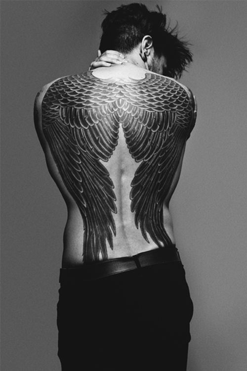 Wings Full Back Tattoo