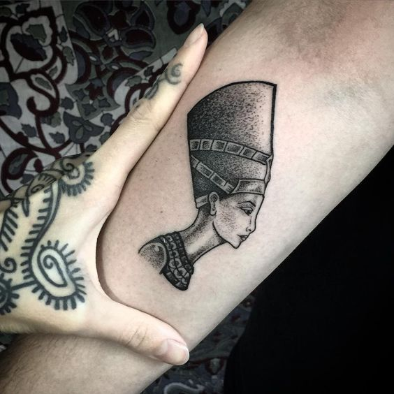 Nefertiti Forearm Tattoo