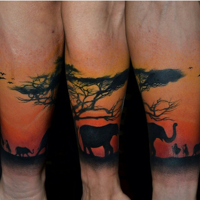 Breath Taking View Sleeve Tattoo