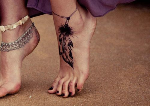 Feather Foot Tattoo