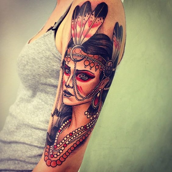 Gorgeous Warrior Arm Tattoo