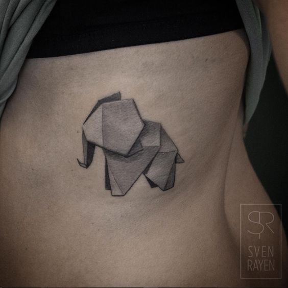 30 astonishing origami tattoo designs amazing tattoo ideas. Black Bedroom Furniture Sets. Home Design Ideas