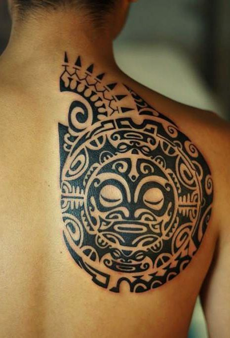 Ancient Tribal Back Tattoo