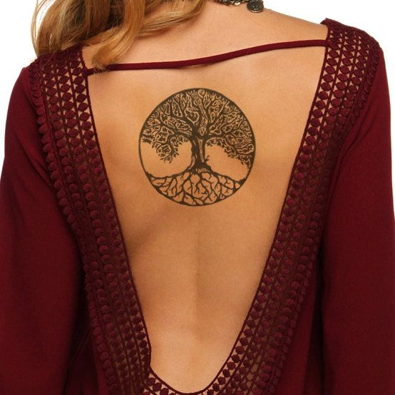 Living Tree Back Tattoo